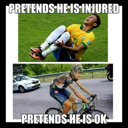 cyclists are tough
